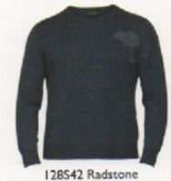 100% Merino Wool Crew Neck Sweater by Alan Paine -Updated Fit - Total Easy Care - Radstone - 128S42